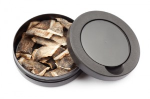 Snus is a common form of tobacco which is placed under the lip