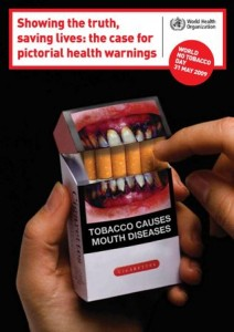 health warnings on cigarette box